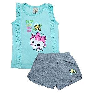 Conjunto Infantil Abelhinha Kibs Kids Verde