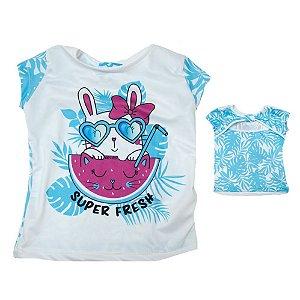 Blusa Infantil Coelhinha Kibs Kids Azul
