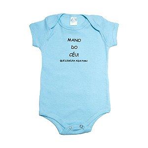 Body Bebê Mano Do Céu Meu Bebê Azul