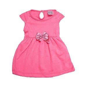 Vestido Bebê Neon Uni Duni Rosa