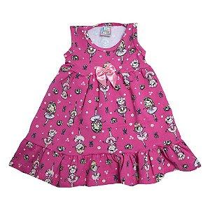Vestido Infantil Bailarina Inova Kids Pink