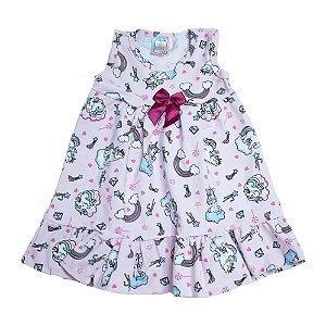 Vestido Infantil Unicórnio Inova Kids Rosa