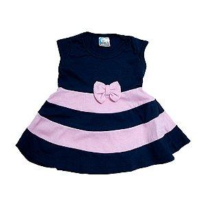 Vestido Infantil Listras Inova Kids Marinho