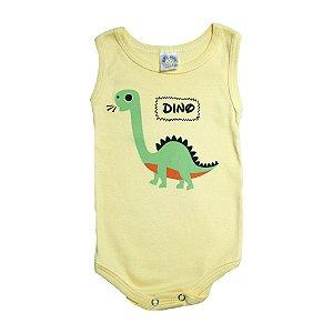 Body Regata Bebê Dino Meu Bebê Amarelo