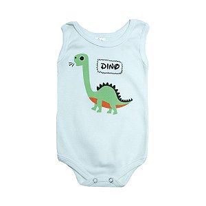 Body Regata Bebê Dino Meu Bebê Verde