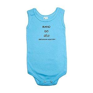 Body Regata Bebê Mano Do Céu  Meu Bebê Azul