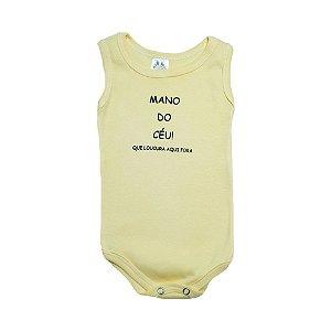 Body Regata Bebê Mano Do Céu  Meu Bebê Amarelo