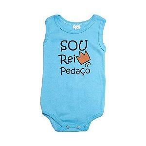 Body Regata Bebê Rei Do Pedaço Meu Bebê Azul