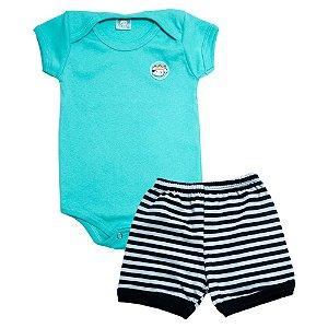Conjunto Bebê Body Menino Meu Bebê Verde