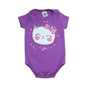 Body Bebê Gatinha Dlook Roxo