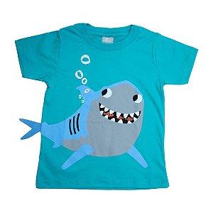 Camiseta Infantil Tubarão Molekada Verde