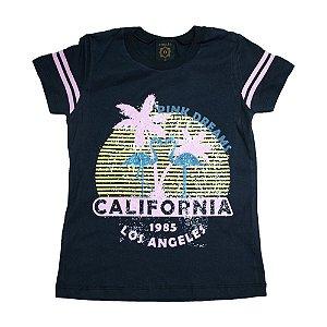 Blusa Juvenil Califórnia Difusão Preta