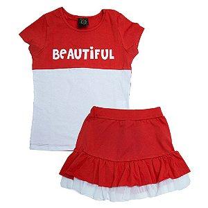 Conjunto Juvenil Beautiful Difusão Vermelho