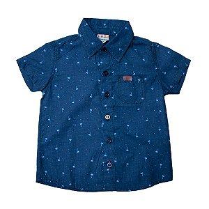 Camisete Jeans Infantil Estampa Coqueiros Jeito Infantil Azul