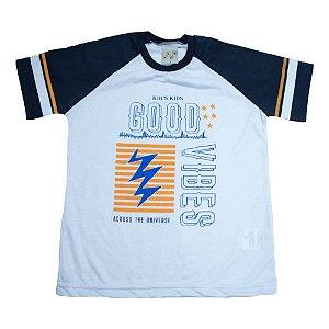 Camiseta Infantil Good Vibes Kibs Kids Branca