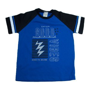 Camiseta Infantil Good Vibes Kibs Kids Royal