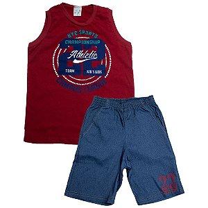 Conjunto Infantil NYC Sports Kibs Kids Vermelho