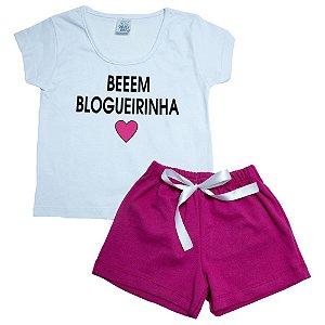 Conjunto Infantil Toda Blogueirinha Veste Kids Branco