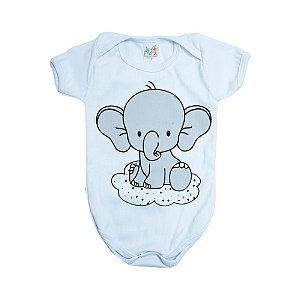 Body Bebê Elefante Jeito Infantil Branco