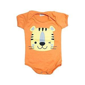 Body Bebê Tigre Jeito Infantil Laranja