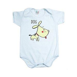 Body Bebê Dog Jeito Infantil Branco