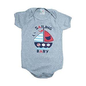 Body Bebê Barquinho Jeito Infantil Mescla