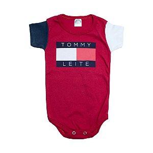 Body Bebê Tommy Leite Meu Bebê Vermelho