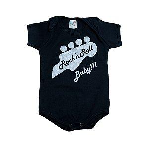 Body Bebê Rock'In Roll Jeito Infantil Preto