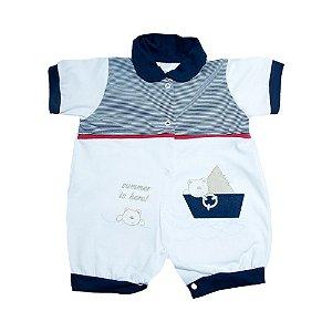 Macaquinho Bebê Marinheiro Feroz Baby Branco