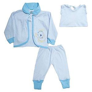 Conjunto Bebê Pagão  Vira Pé Feroz Baby Azul
