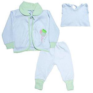 Conjunto Bebê Pagão  Vira Pé Feroz Baby Verde