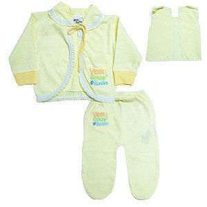Conjunto Bebê Pagão Feroz Baby Amarelo