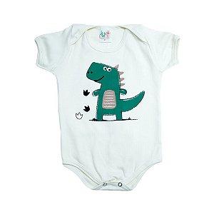 Body Bebê Dino Jeito Infantil Pérola