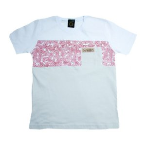 Camiseta Juvenil Folhagem Difusão Branca