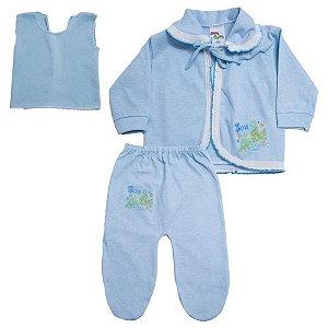 Conjunto Bebê Pagão Feroz Baby Azul