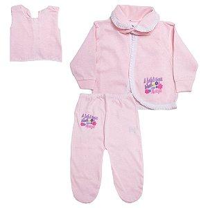 Conjunto Bebê Pagão Feroz Baby Rosa