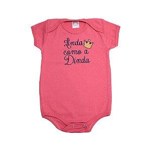 Body Bebê Linda Como A Dinda Meu Bebê Salmão
