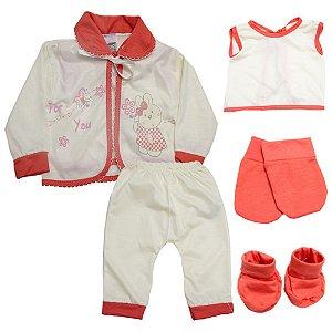 Conjunto Bebê Pagão 05 Peças Feroz Baby Pérola
