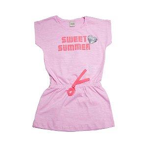 Vestido Infantil Sweet Summer Ralakids Rosa