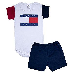 Conjunto Bebê Body Tommy Meu Bebê Marinho