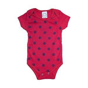 Body Bebê Leme Lolita Vermelho