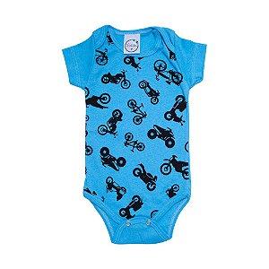 Body Bebê Motos Lolita Azul