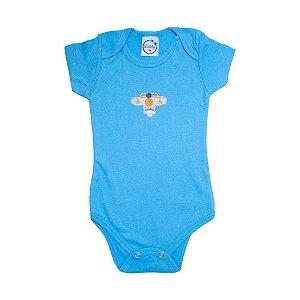 Body Bebê Avião Lolita Azul