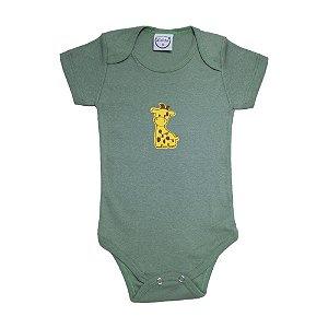 Body Bebê Girafa  Lolita Verde