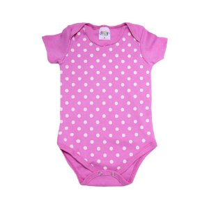 Body Bebê Poá  Roby Kids Pink