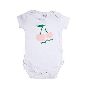 Body Bebê Cereja Roby Kids Pérola