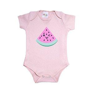 Body Bebê Melância Roby Kids Rose