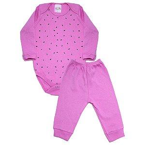 Conjunto Bebê Body Melância Roby Kids Pink