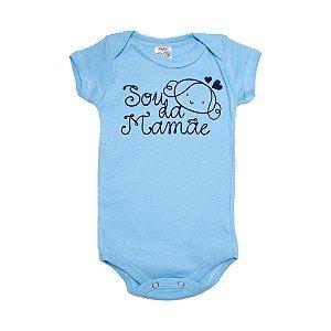 Body Bebê Sou Da Mamãe Meu Bebê Azul