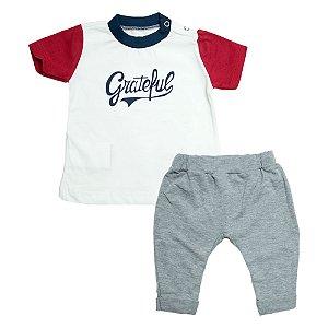 Conjunto Bebê Camiseta e Saruel Baby Gut Pérola